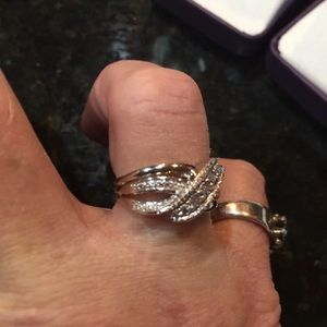 Jewelry - Genuine Diamond Accent Sterling Silver Ring